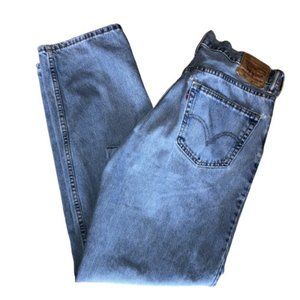 Levis 550 36 x 34 Light Wash Relaxed Fit Jeans
